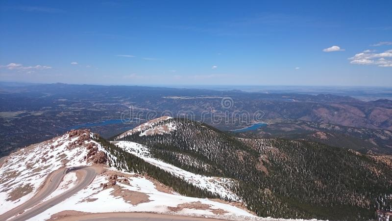 Picco dei lucci di Colorado immagine stock