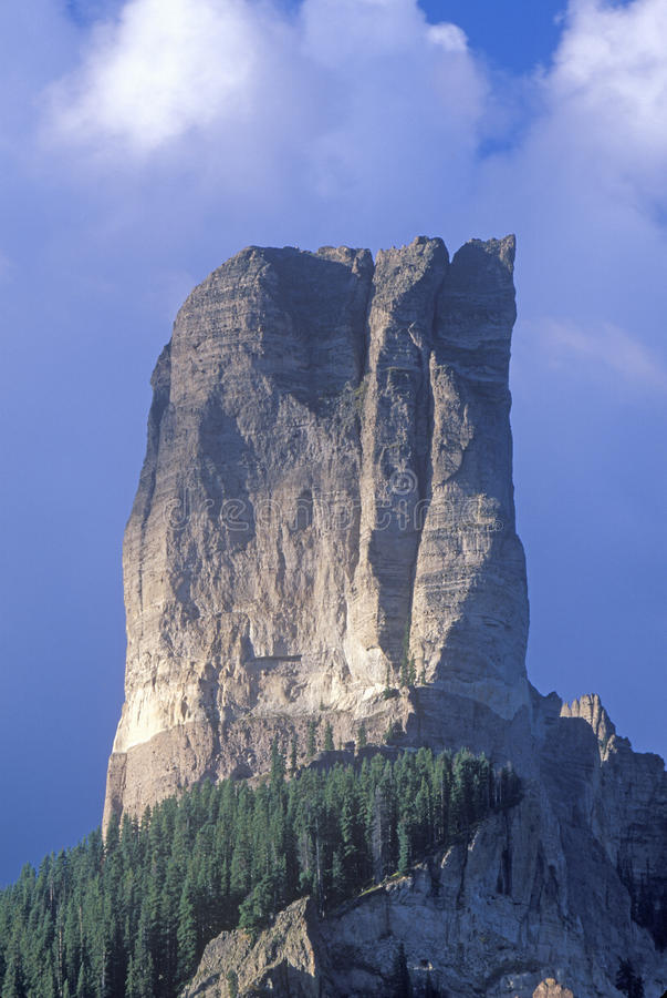 Picco del camino, Ridgeway, Colorado fotografia stock