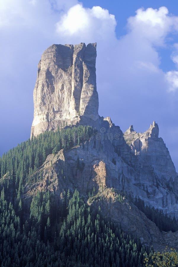 Picco del camino, Ridgeway, Colorado fotografia stock libera da diritti