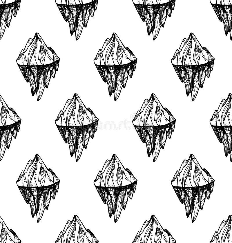 Picco dell'iceberg della montagna illustrazione di stock