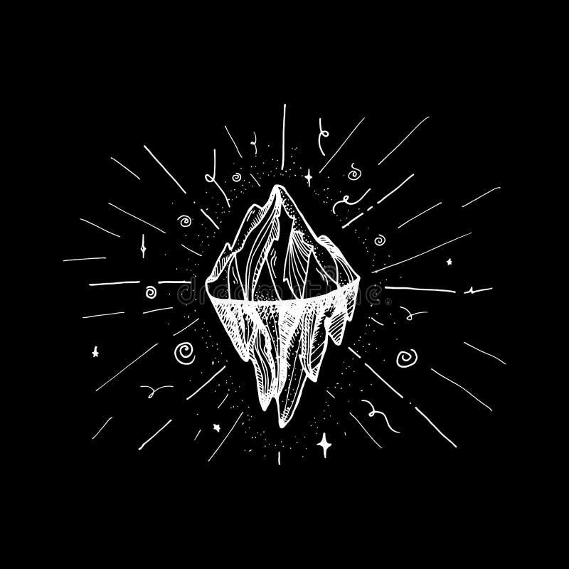 Picco dell'iceberg della montagna illustrazione vettoriale