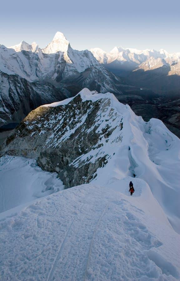 Picco dell'isola - Nepal fotografia stock libera da diritti