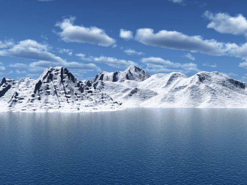 Picco della neve fotografia stock