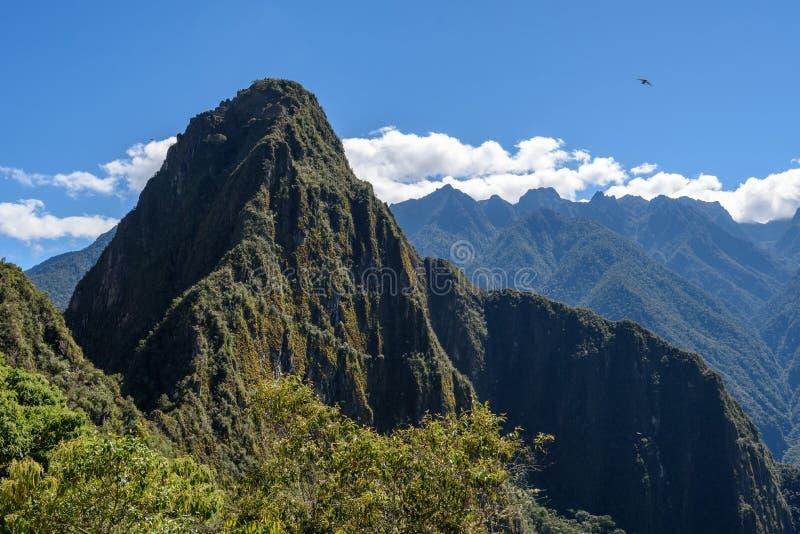 Picco di Huyana Picchu a Machu Picchu fotografie stock libere da diritti