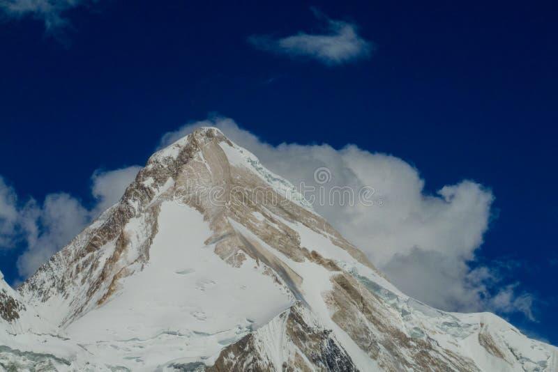 Picco di Khan Tengri in montagne di Tian Shan fotografia stock libera da diritti