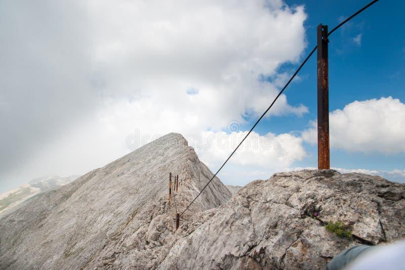 Picco di Koncheto sulla montagna Pirin fotografia stock