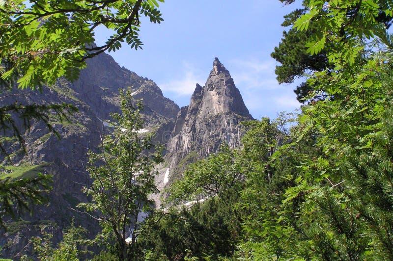 Picco di Mnich in montagne di Tatra fotografia stock libera da diritti