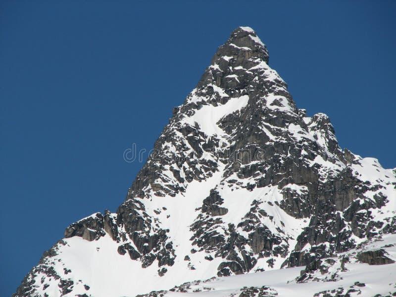 Picco di montagna fotografie stock