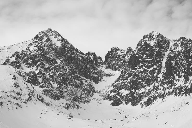 Picco di montagna innevato fotografie stock
