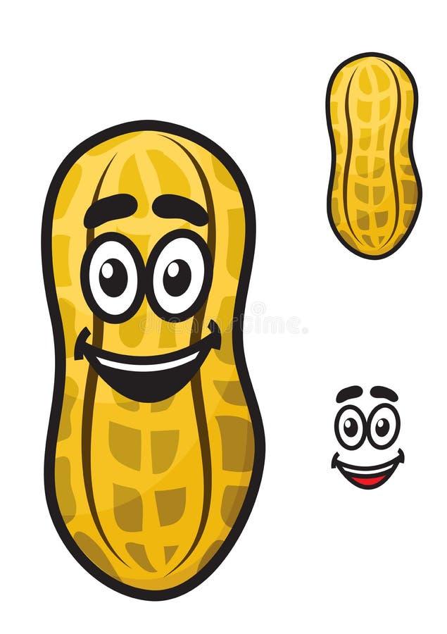 Piccola arachide felice dell'arachide del fumetto o royalty illustrazione gratis