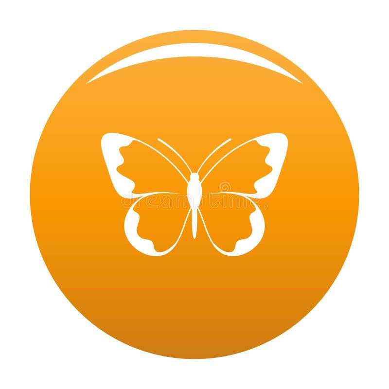 Piccola arancia di vettore dell'icona della farfalla illustrazione vettoriale