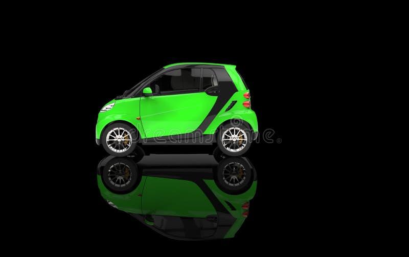 Piccola automobile verde intenso immagine stock