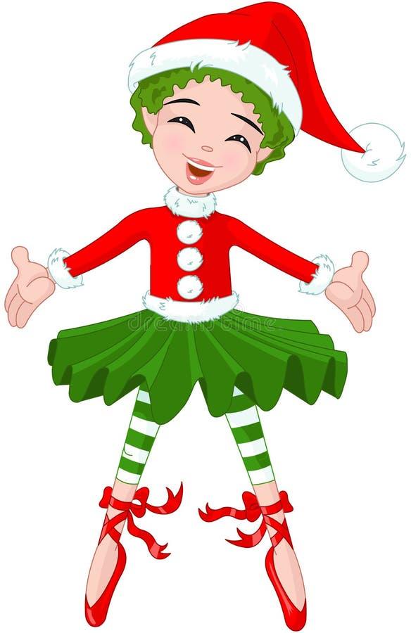 Piccola ballerina di Natale illustrazione vettoriale