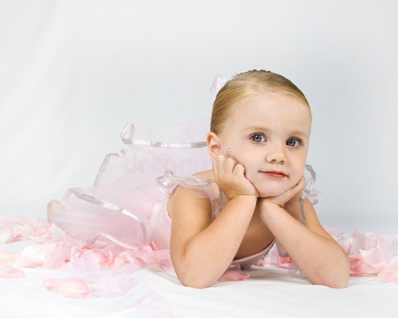 Piccola ballerina paziente fotografia stock libera da diritti