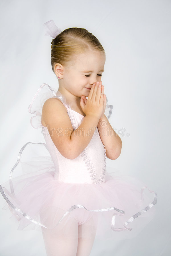 Piccola ballerina Prayerful fotografie stock