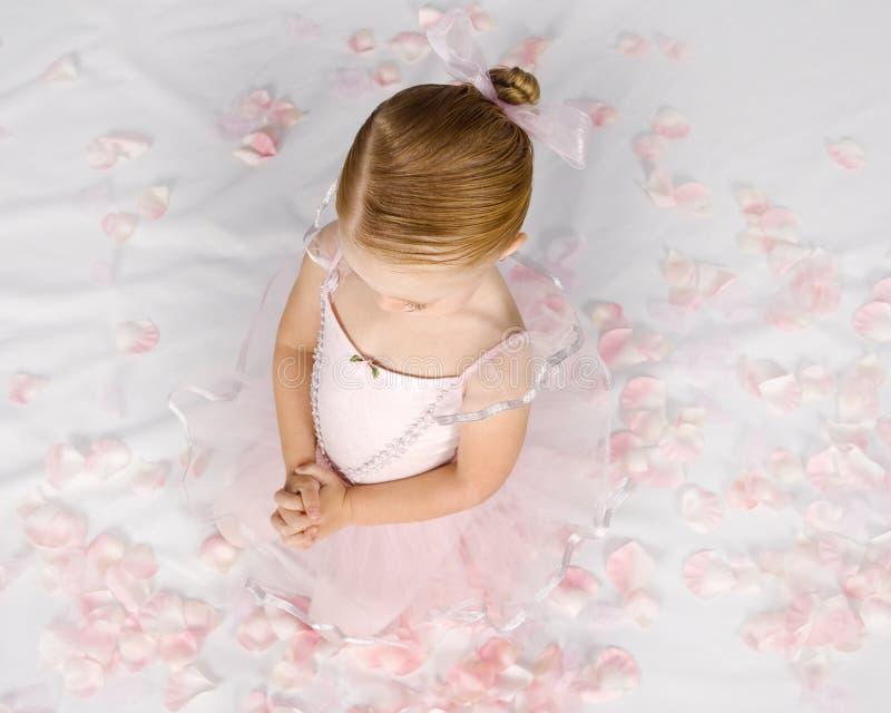 Piccola ballerina Prayerful fotografia stock libera da diritti
