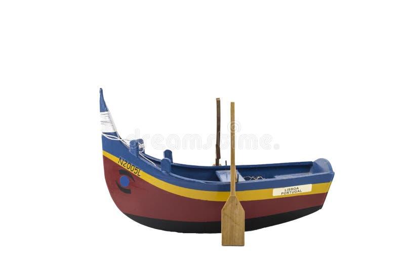 Piccola barca a remi di pesca fotografia stock