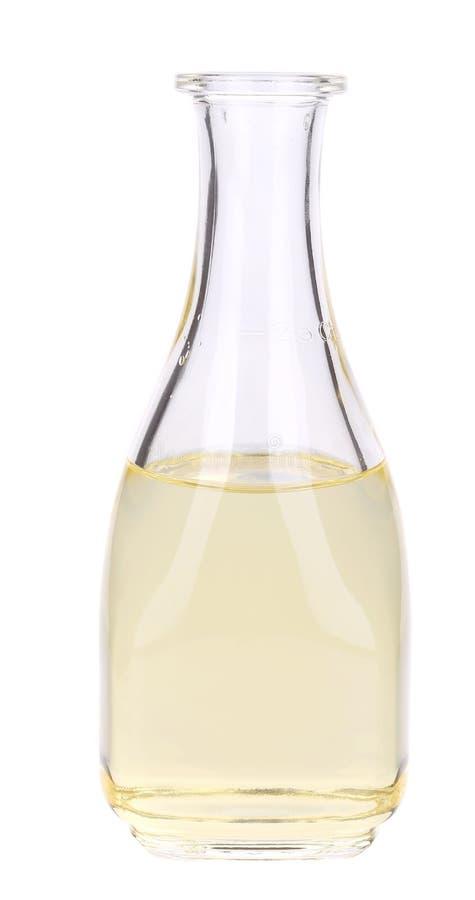 Piccola bottiglia dell'olio di girasole fotografie stock