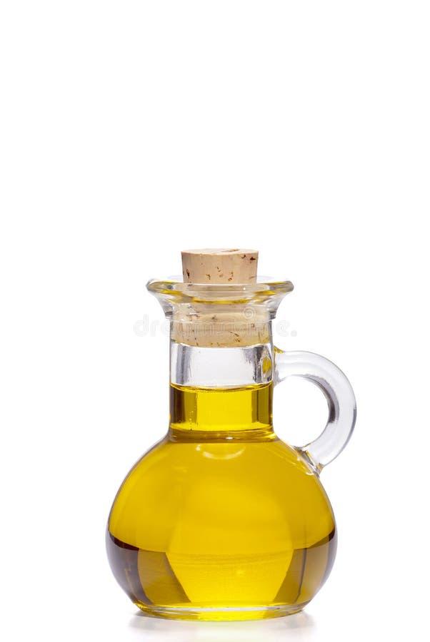 Piccola bottiglia di olio d'oliva immagini stock