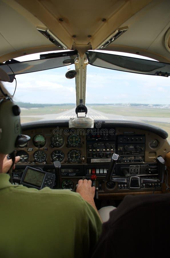 Piccola cabina di guida dei velivoli (aeroplano) fotografie stock