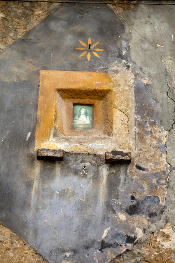 Piccola cappella in Pienza fotografia stock libera da diritti