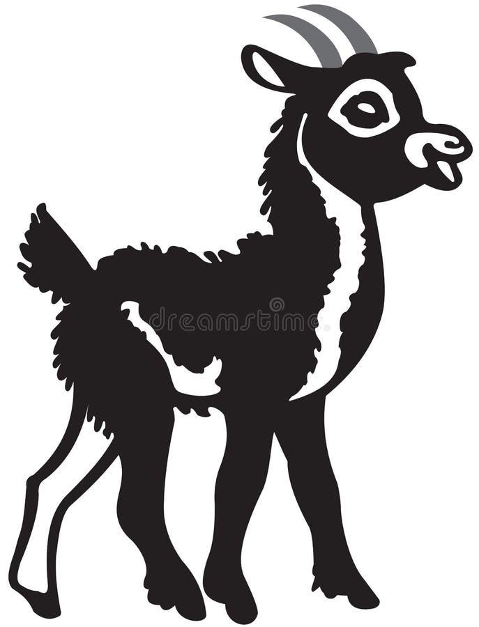Piccola capra nera illustrazione di stock
