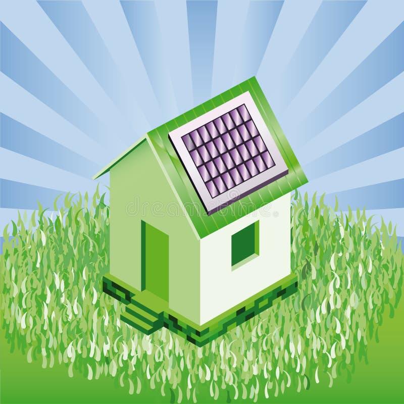 Piccola casa con i comitati solari nel paesaggio naturale for Schizzo di piccola casa
