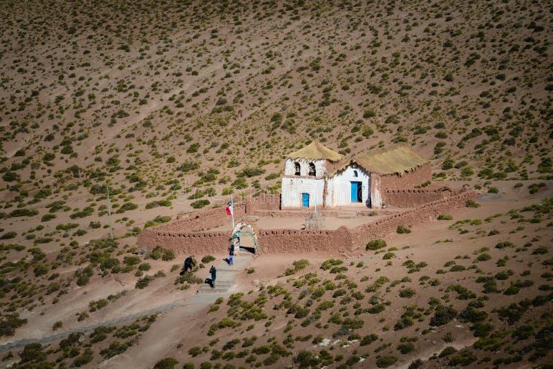 Piccola chiesa di Machuca in San Pedro de Atacama, Cile immagini stock libere da diritti