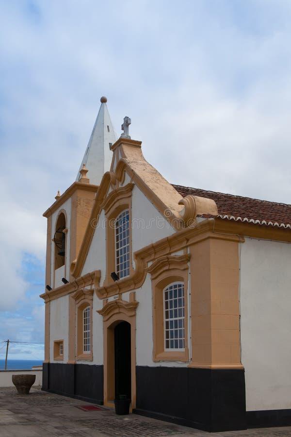 Piccola chiesa nominata imperio in Terceira fotografia stock