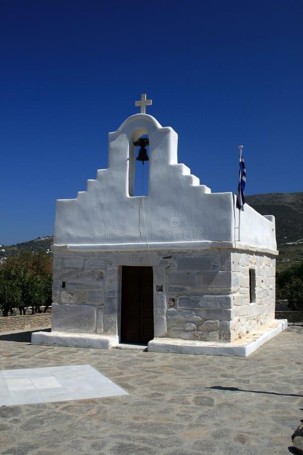 Piccola chiesa - Paros fotografia stock libera da diritti