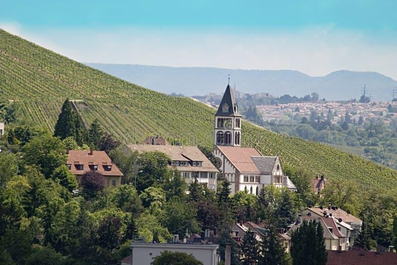 Piccola chiesa a Stuttgart immagini stock libere da diritti