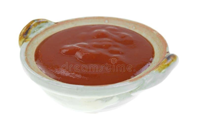 Piccola ciotola di salsa di taco immagine stock