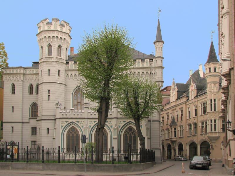 Piccola cooperativa a Riga immagine stock