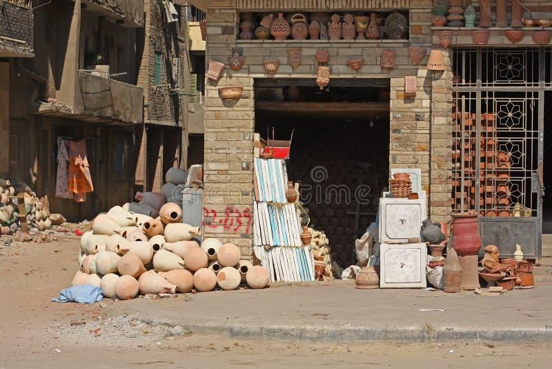 Piccola fabbricazione egiziana delle terraglie fotografie stock