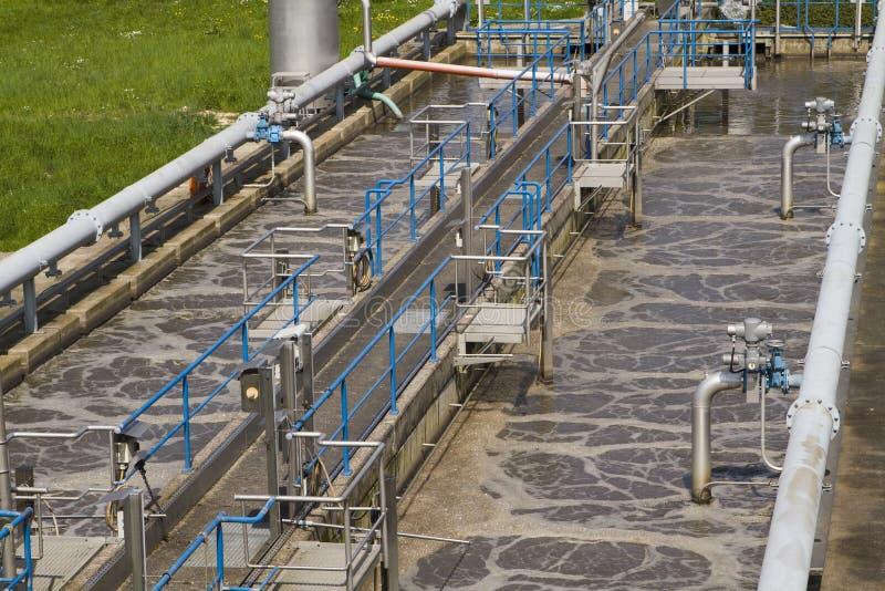 Piccola funzione locale di trattamento di acque di rifiuto immagine stock libera da diritti