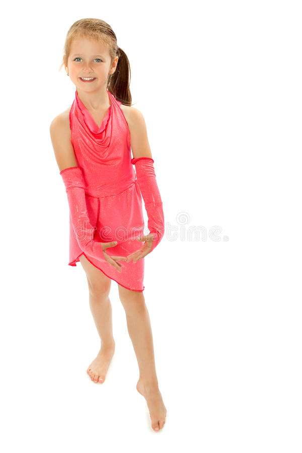 Piccola ginnasta adorabile fotografie stock