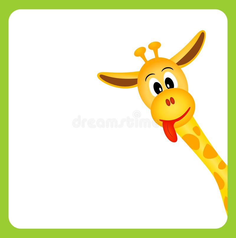 Piccola giraffa sveglia su priorità bassa bianca royalty illustrazione gratis