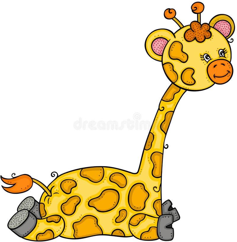 Piccola giraffa sveglia royalty illustrazione gratis