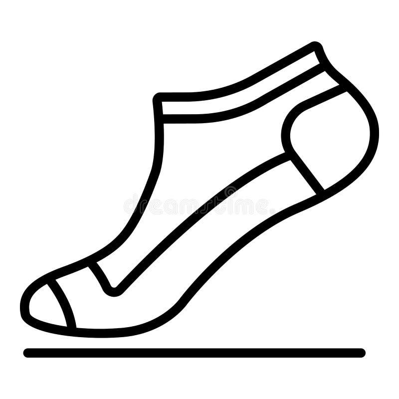 Piccola icona del calzino, stile del profilo royalty illustrazione gratis