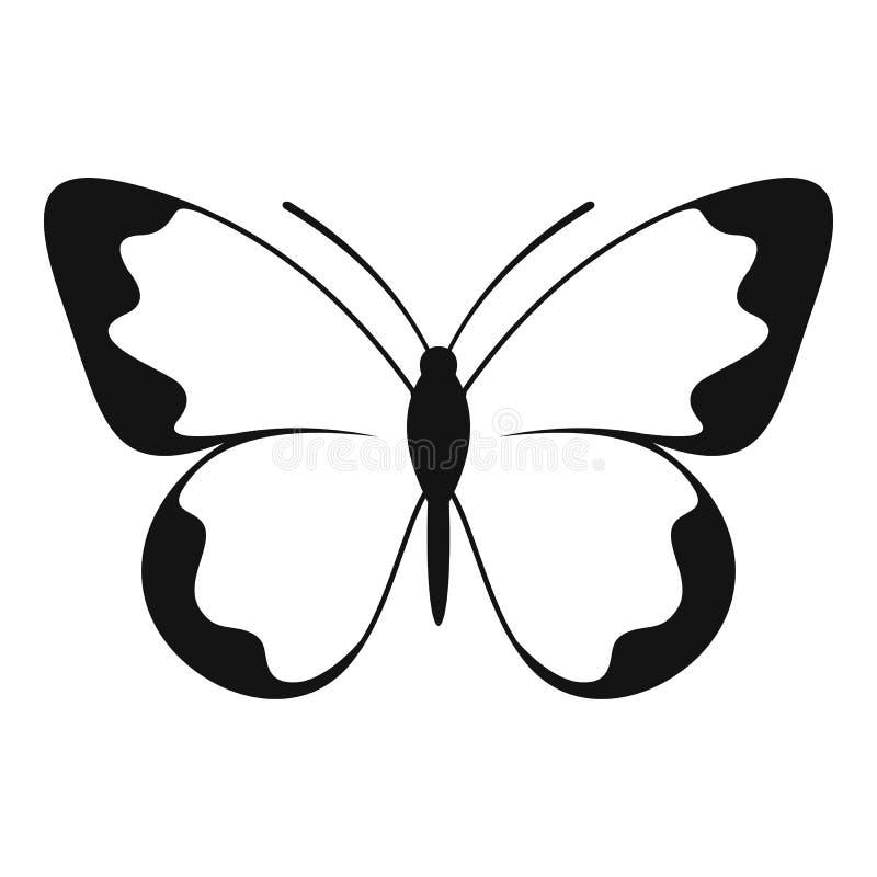 Piccola icona della farfalla, stile semplice illustrazione di stock