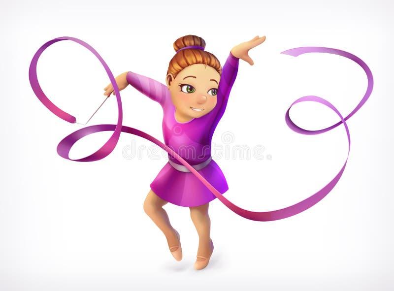 Piccola icona della ginnasta royalty illustrazione gratis
