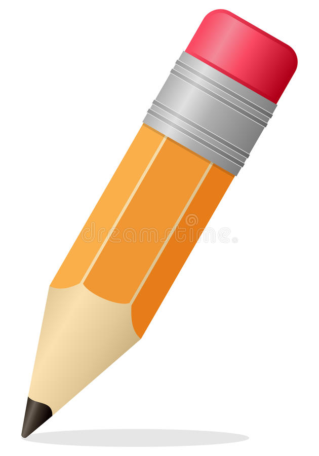 Piccola icona della matita illustrazione vettoriale