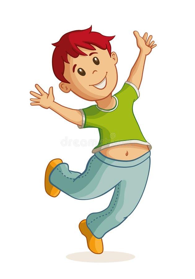 Piccola illustrazione felice del ragazzo illustrazione di stock