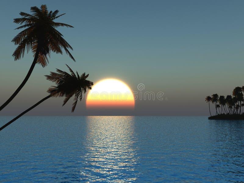 Piccola isola royalty illustrazione gratis