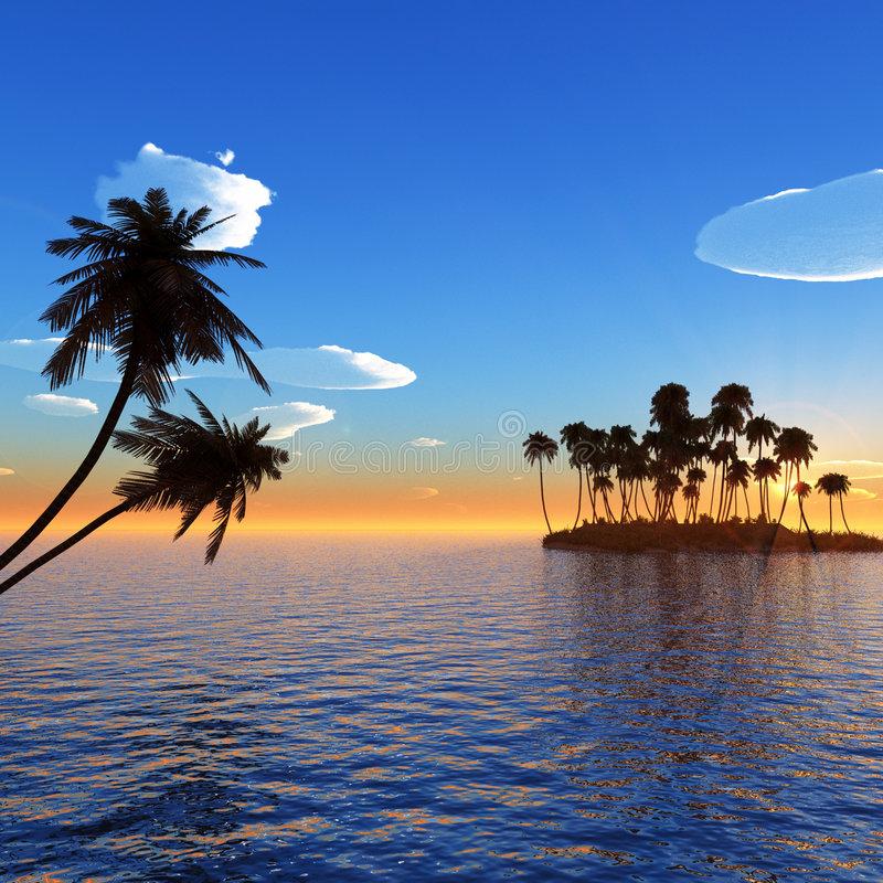 Piccola isola illustrazione vettoriale