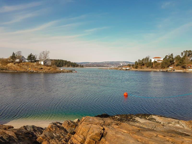 Piccola isola nel fiordo di Oslo immagine stock libera da diritti