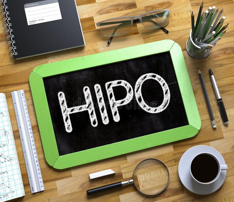 Piccola lavagna con HIPO 3d fotografia stock libera da diritti