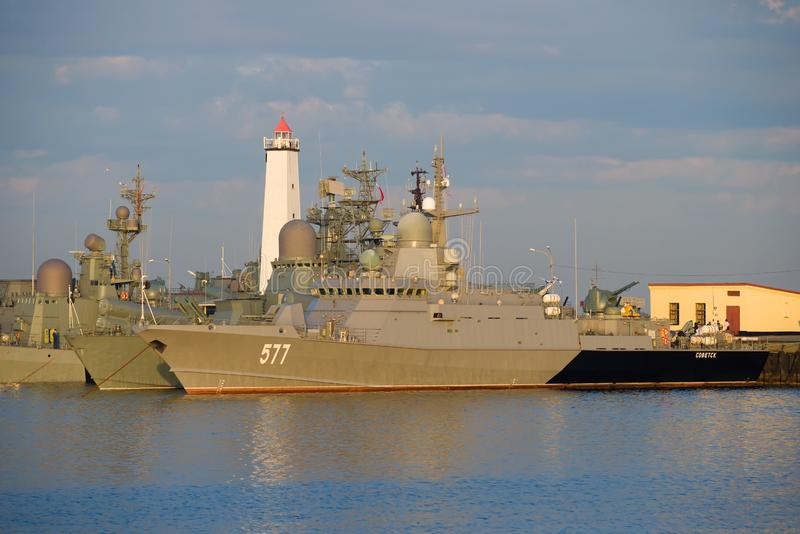 "Piccola nave ""Sovetsk ""del razzo fotografie stock libere da diritti"