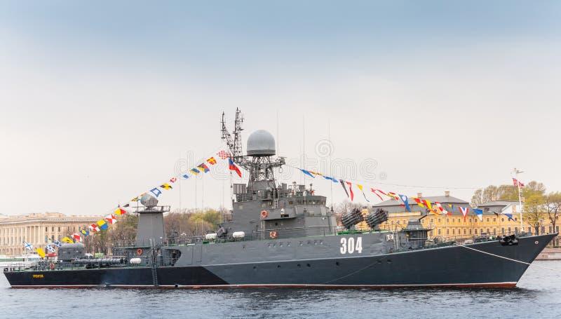 Piccola nave antisommergibile Urengoy, progetto 1331M fotografia stock