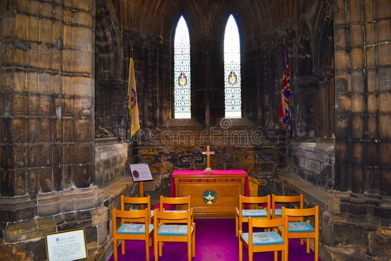 Piccola oratoria dentro di Glasgow Cathedral o alto Kirk del G immagini stock libere da diritti
